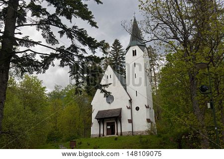 Evangelical church in the Tatranska Lomnica. Slovakia.