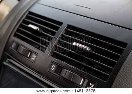 car air conditioning. close up shot. abstract
