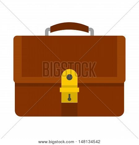 Office diplomat icon in flat style isolated on white background. Bag symbol vector illustration