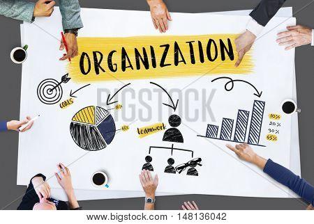 Organization Strategy Planning Branding Chart Concept