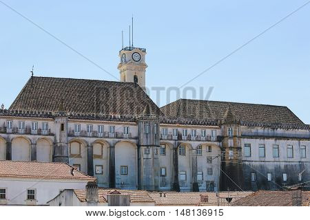Tower Of The University Of Coimbra, Portugal