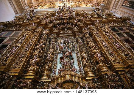 Altarpiece In The New Cathedral Of Coimbra