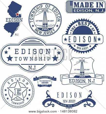 Edison Township, Nj, Generic Stamps And Signs