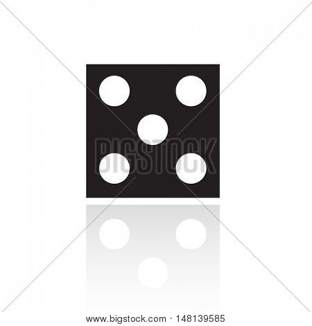 Black dice isolated on white