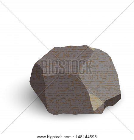 stone isometric isolated on white background. Vector illustration.
