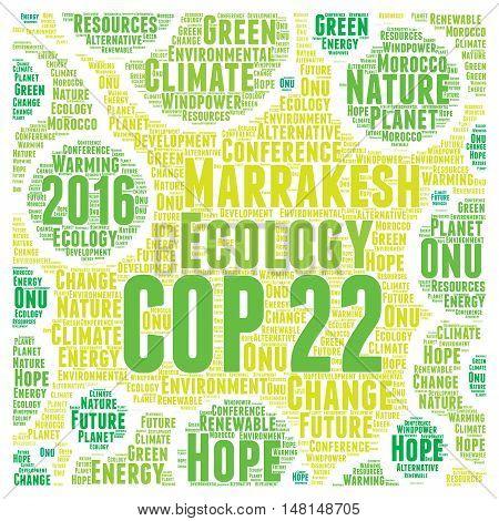 COP 22 in Marrakesh, Morocco word cloud