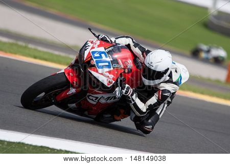 CHESTE, SPAIN - SEPTEMBER 17th: Rayad Abrahim in Open600 during Spanish Speed Championship CEV at Cheste Circuit on September 17, 2016 in Cheste, Spain