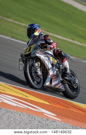 CHESTE, SPAIN - SEPTEMBER 17th: Alejandro Rubio in Open1000 during Spanish Speed Championship CEV at Cheste Circuit on September 17, 2016 in Cheste, Spain