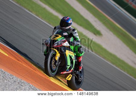 CHESTE, SPAIN - SEPTEMBER 17th: Vicente Kruger in SuperStock1000 during Spanish Speed Championship CEV at Cheste Circuit on September 17, 2016 in Cheste, Spain