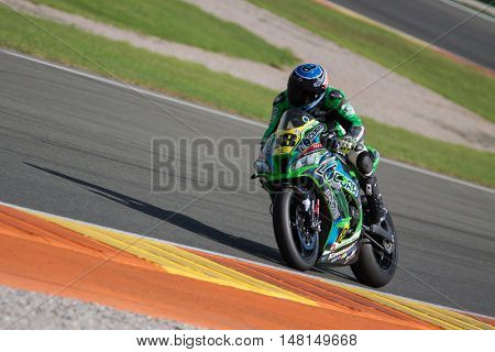 CHESTE, SPAIN - SEPTEMBER 17th: Lucas de Ulacia in Open1000 during Spanish Speed Championship CEV at Cheste Circuit on September 17, 2016 in Cheste, Spain