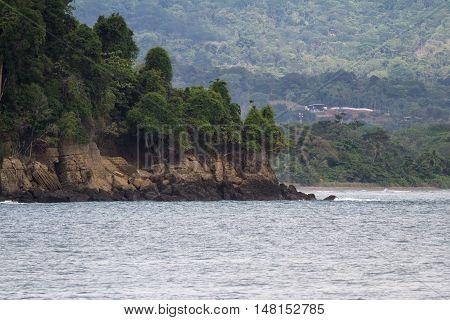 Rocky Cliff In Costa Rica