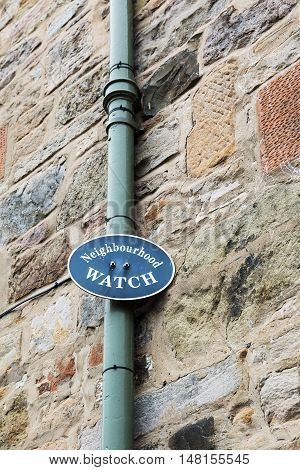 Sign For Neighbourhood Watch In Great Britain