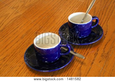 Coffee Cups And Spoons