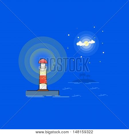 Lighthouse Vector outline cartoon illustration vector art
