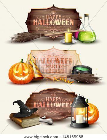 Set Of Halloween Headers