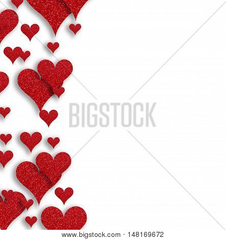 Valentines Day. Abstract Paper Hearts. Love, Heart For Valentines Day Background