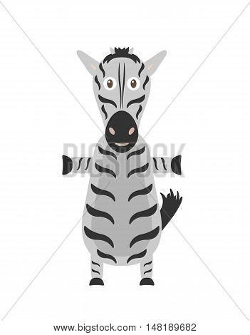 Funny Zebra Character