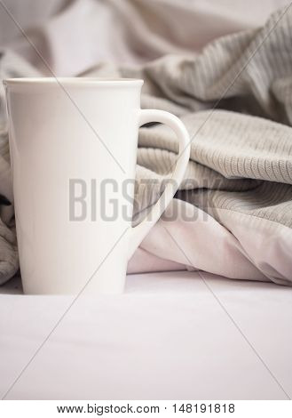 Delicious Breakfast In Bed With A Big Sword Coffee