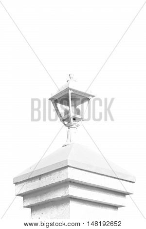 In Oman Old Streetlamp In The Clear Sky And Abstract Background