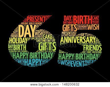 Happy 65th Birthday Images Illustrations Vectors Free Bigstock