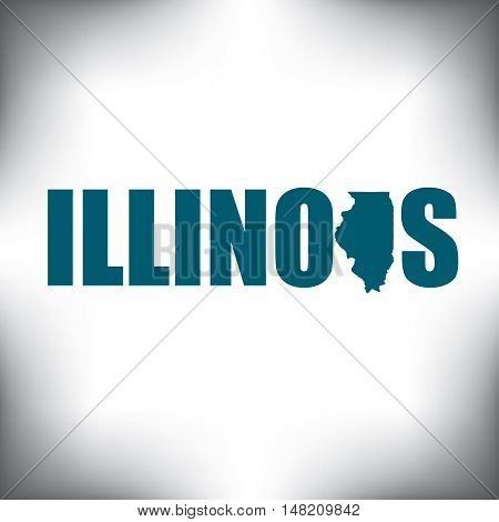 The Illinois shape is within the Illinois name in this state graphic