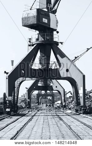 Crane And Scrap Metal