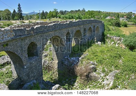 A third century Roman over the River Mostanici near to Nicsik in Montenegro