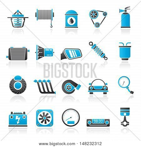 Car part and services icons 2 - vector icon set