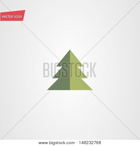 Vector illustration of fir tees icon in flat style