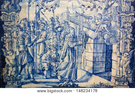 Azulejo In The Monastery Of Santa Cruz (coimbra)
