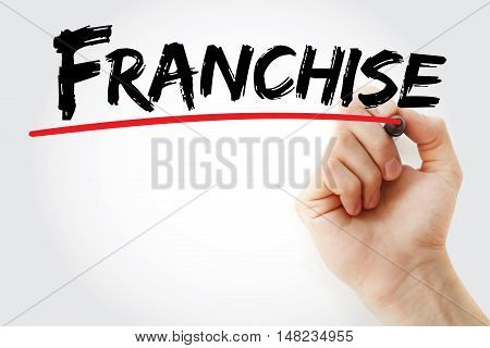 Hand Writing Franchise With Marker