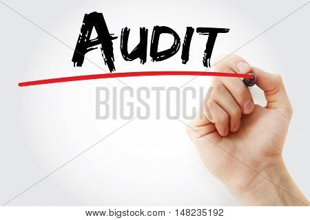 Hand Writing Audit With Marker