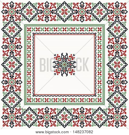 Cross stitch frame or border collection with elegant design elements