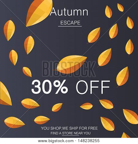 Trendy contemporary style discounts autumn background illustration .Vektor