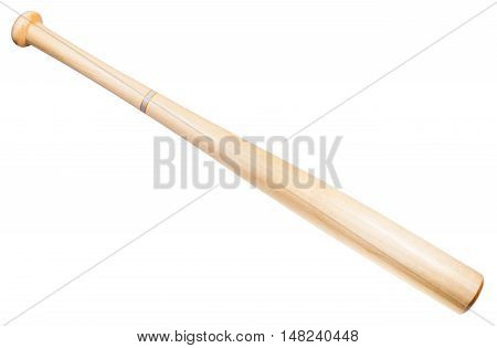 Wooden Baseball Bat Isolated On White