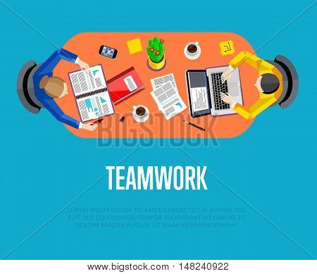 Business success and business team concept. Success teamwork people. Social network people. Teamwork people together vector. Business team and teamwork concept. Teamwork people partnership and teamwork business community concept. Cartoon teamwork people.