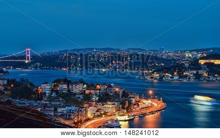 Blue Night Landscapes from Istanbul in Turkey