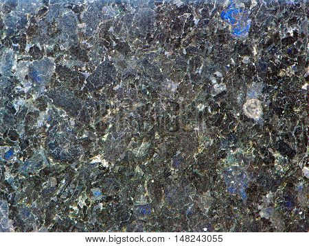Labradorite Mineral Background (blue And Yellow Typical
