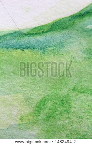 Macro Green with Blue Watercolour Textures 15