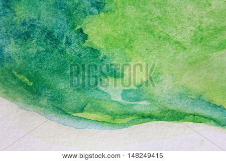 Macro Green with Blue Watercolour Textures 9