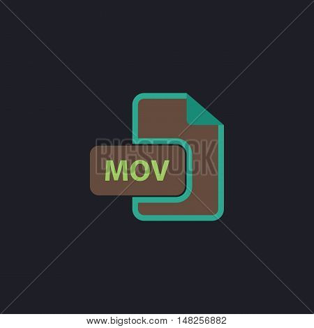 MOV Color vector icon on dark background