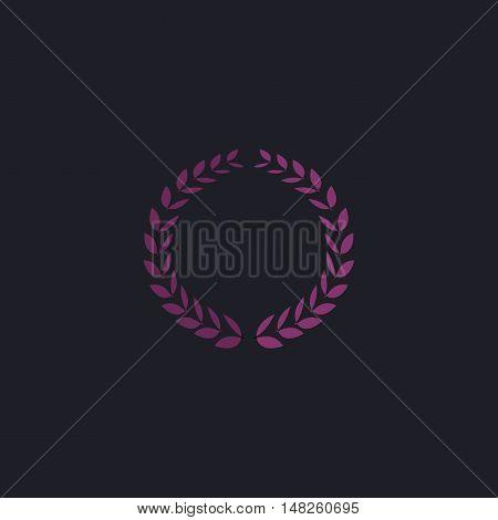 triumph wreath Color vector icon on dark background