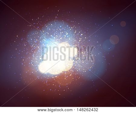 Soft background with light and bokeh, vector