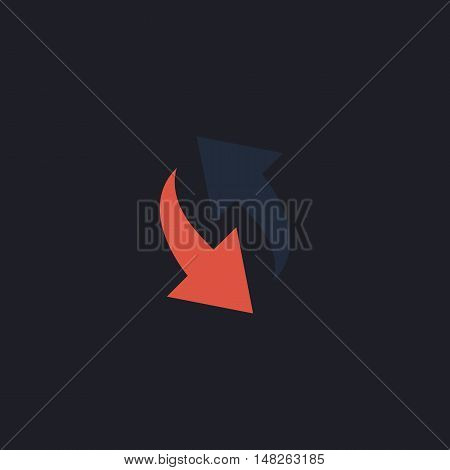 reload Color vector icon on dark background
