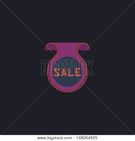 Sale Color vector icon on dark background