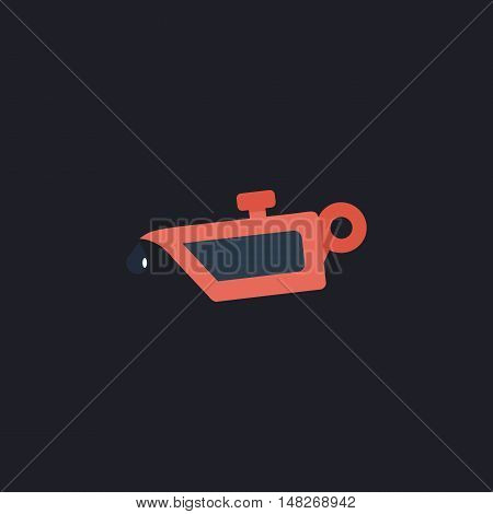 lube oil Color vector icon on dark background