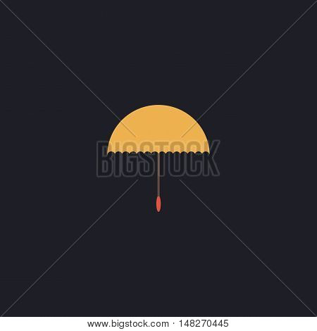 bumbershoot Color vector icon on dark background