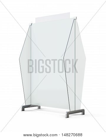 Mobile Screen Partition Isolated On White Background. 3D Rendering