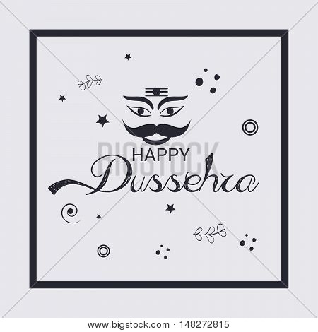 illustration of Creative banner or poster of dussehra with Ravana head.