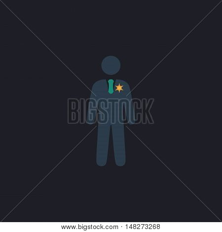 ranger Color vector icon on dark background